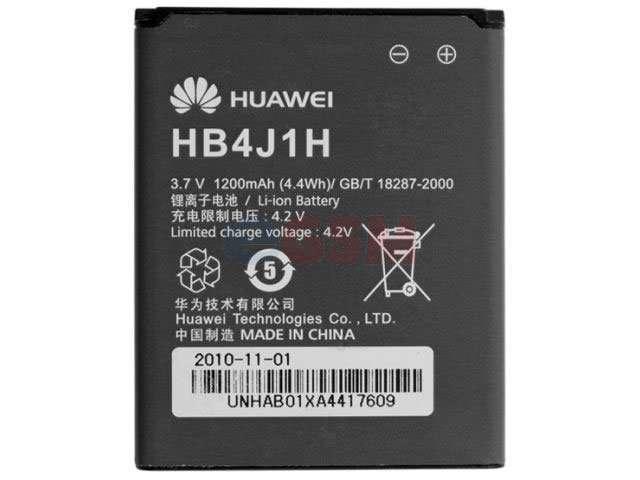 Acumulator Huawei HB4J1H original pentru Huawei U8150 Ideos, Huawei U8180 IDEOS X1, Huawei U8510 Ideos X3, Vodafone 845, Vodafone 858 Smart