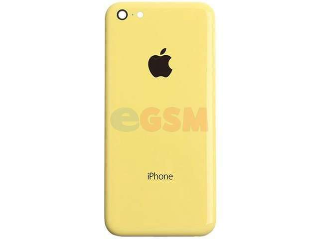 Capac baterie Apple iPhone 5C galben