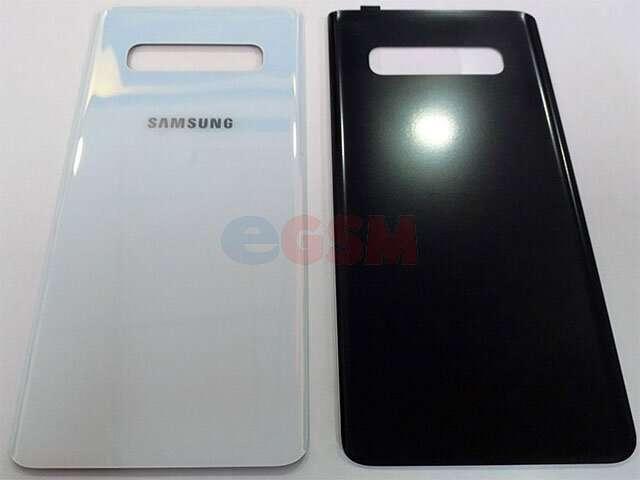 Capac baterie Samsung SM-G973F Galaxy S10 alb DIN STICLA