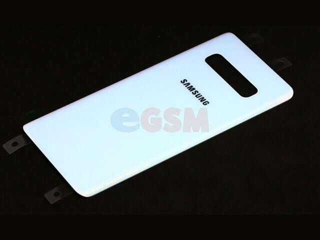 Capac baterie Samsung SM-G975F Galaxy S10+ alb DIN STICLA