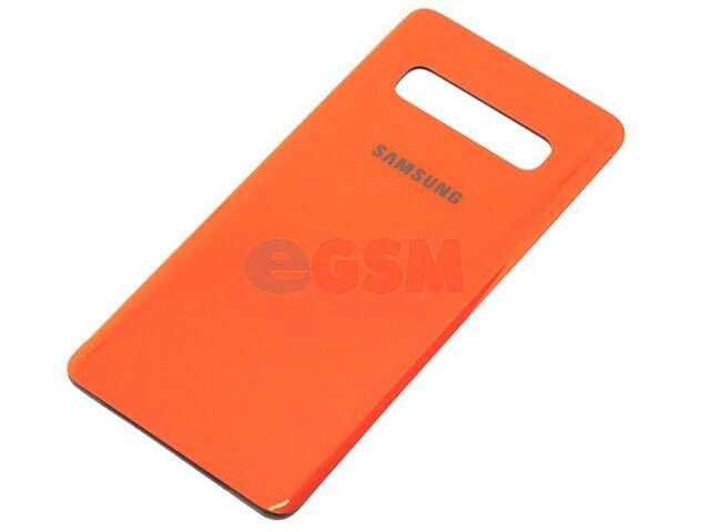 Capac baterie Samsung SM-G975F Galaxy S10+ portocaliu DIN STICLA