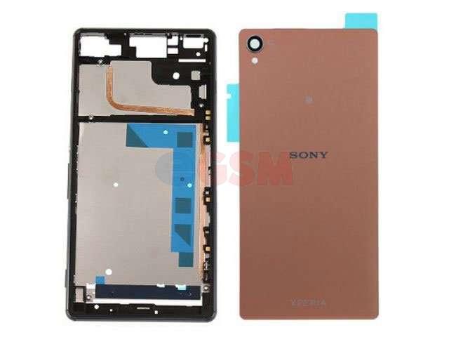 Carcasa Sony D6603, D6643, D6653, D6616, Xperia Z3 2 piese aurie