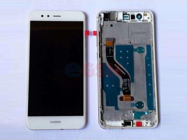 Display cu touchscreen si rama Huawei Mate 10 Lite, RNE-L01, RNE-L21, RNE-L23, G10 alb
