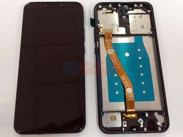 Display cu touchscreen si rama Huawei Mate 20 Lite, SNE-LX1 DS, SNE-LX3 DS, INE-LX2 albastru