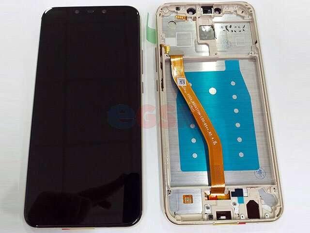 Display cu touchscreen si rama Huawei Mate 20 Lite, SNE-LX1 DS, SNE-LX3 DS, INE-LX2 auriu