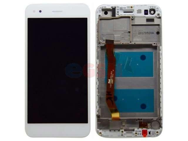 Display cu touchscreen si rama Huawei P9 lite mini, Y6 Pro 2017 alb