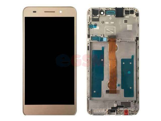 Display cu touchscreen si rama Huawei Y6II Compact, Honor 5A, LYO-L01 auriu