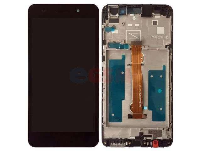 Display cu touchscreen si rama Huawei Y6II Compact, Honor 5A, LYO-L01 negru