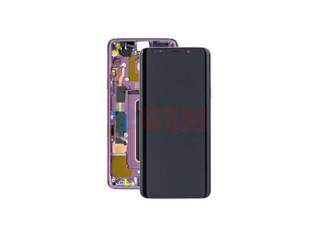 Display cu touchscreen si rama Samsung SM-G965F Galaxy S9+ violet