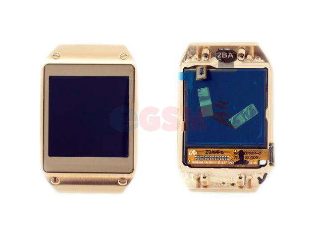 Display cu touchscreen si rama Samsung SM-V700 Galaxy Gear auriu