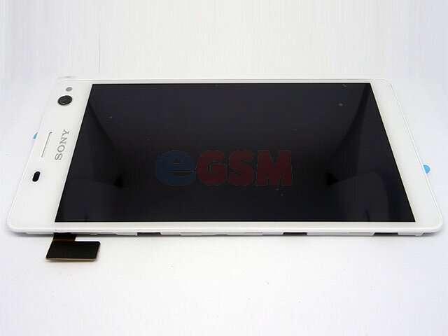 Display cu touchscreen si rama Sony Xperia C4, Xperia C4 Dual alb