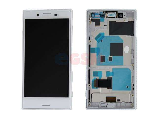 Display cu touchscreen si rama Sony Xperia X Compact, F5321 alb