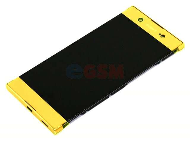 Display cu touchscreen si rama Sony Xperia XA1 Ultra, G3221, G3212, G3223, G3226 auriu