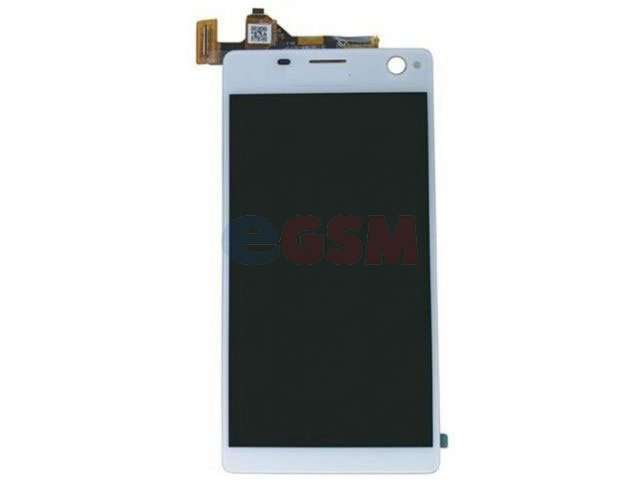 Display cu touchscreen Sony E5333, E5343, E5363, Xperia C4 Dual alb