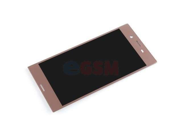 Display cu touchscreen Sony F8331, F8332, Xperia XZ rose - gold