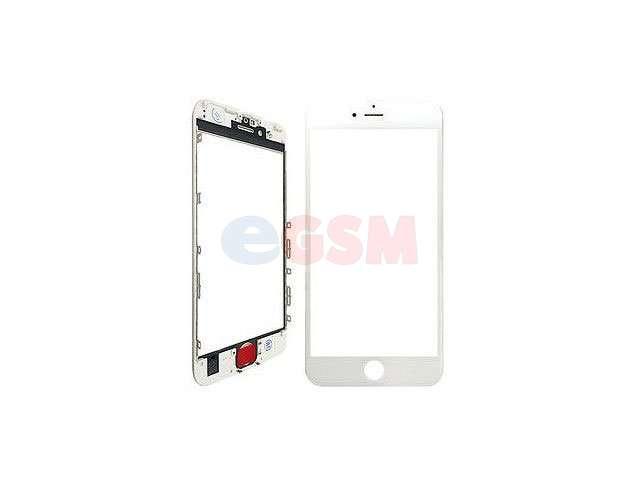 Geam cu rama si OCA Apple iPhone 6S alb