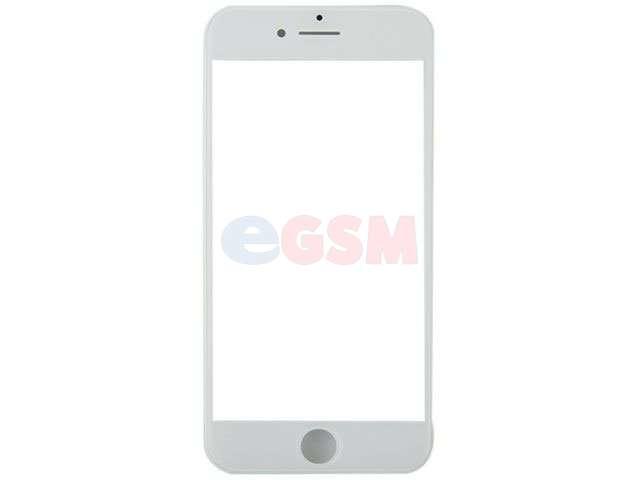 Geam cu rama si OCA Apple iPhone 8 alb