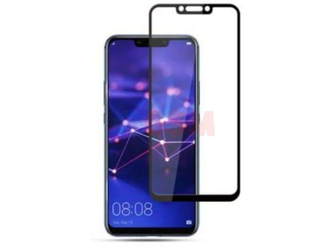 geam protectie 015 mm touchscreen huawei mate 20 lite sne-lx1 ds sne-lx3 ds ine-lx2 5d curved and full cover negru - transparetent bulk