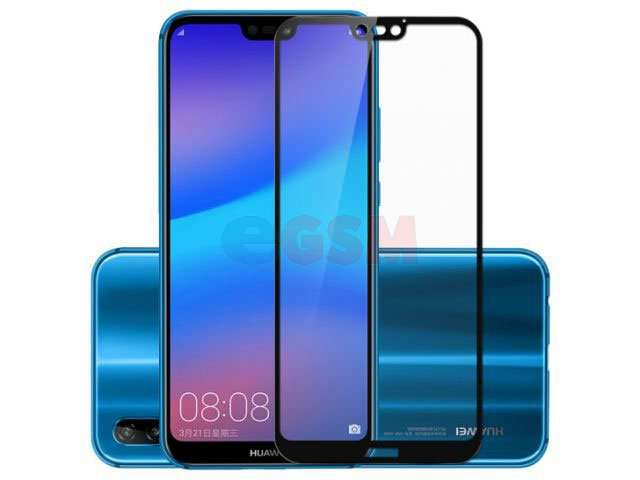 Geam protectie 0.15 mm touchscreen Huawei P20 Lite, ANE-LX1 (5D curved and full cover) negru - transparetent bulk