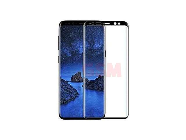 Geam protectie 0.15 mm touchscreen Samsung SM-G950F Galaxy S8 (5D curved and full cover) negru - transparetent bulk