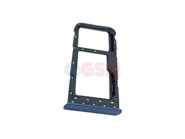 Suport sim si card Huawei P Smart, FIG-LX1, FIG-LA1, FIG-LX2, FIG-LX3 albastru