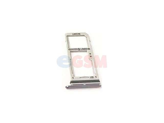 Suport sim si card Samsung SM-G950F Galaxy S8, SM-G955F Galaxy S8 Plus (varianta dual sim) gri