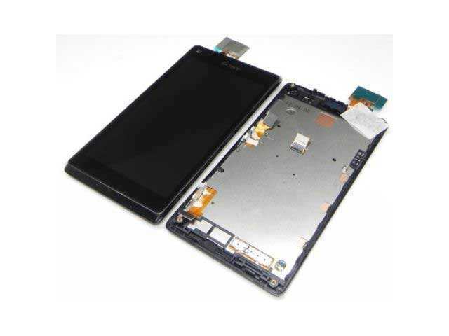 Display cu touchscreen si rama Sony C2104, C2105, S36h Xperia L original
