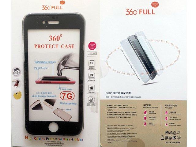 Husa fata spate 360 grade protectie cu folie de sticla display iPhone 7