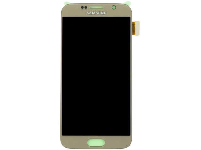 Display cu touchscreen Samsung SM-G920f Galaxy S6 original - auriu