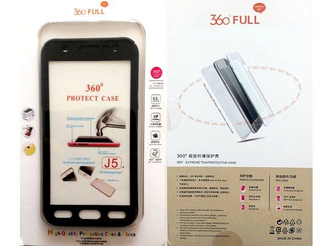 Husa fata spate 360 grade protectie cu folie de sticla display Samsung Galaxy J5 2015 (J500)