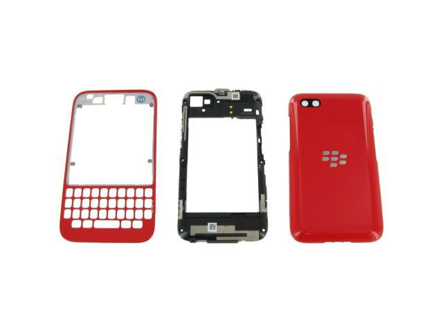 Carcasa BlackBerry Q5 rosie originala