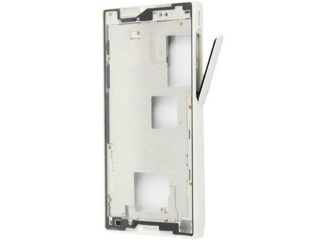 Carcasa rama mijloc Sony E5803, E5823, Xperia Z5 Compact alba originala