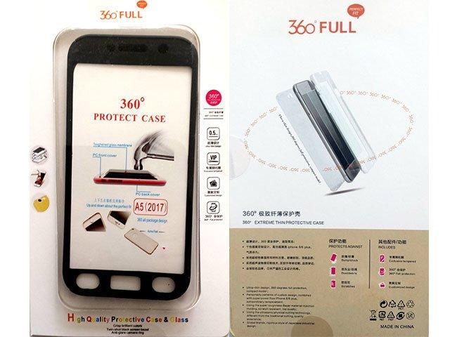 Husa fata spate 360 grade protectie cu folie de sticla display Samsung Galaxy A5 2017