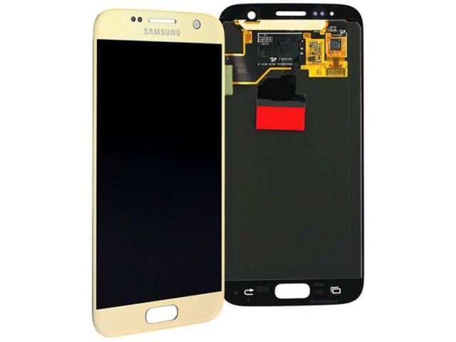 Display cu touchscreen Samsung SM-G930F Galaxy S7 auriu original