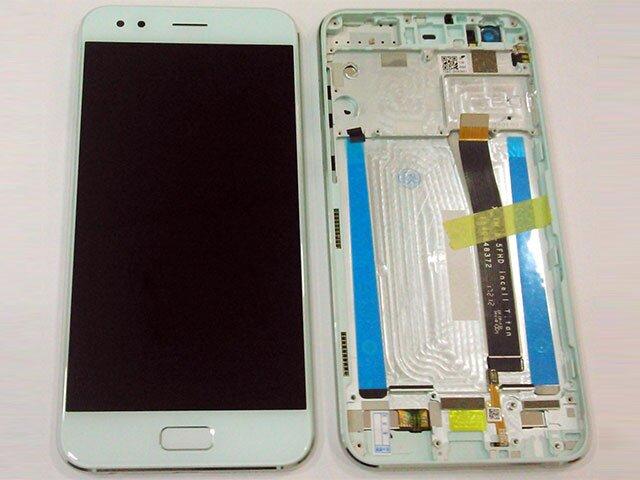 Display cu touchscreen si rama Asus Zenfone 4 ZE554KL verde ORIGINAL