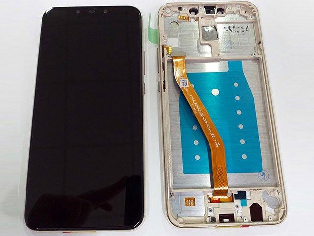 Display cu touchscreen si rama Huawei Mate 20 Lite, SNE-LX1 DS, SNE-LX3 DS, INE-LX2 auriu ORIGINAL