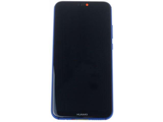 Display cu touchscreen si rama Huawei P20 Lite, ANE-LX1 albastru original