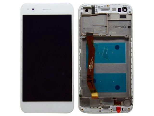 display cu touchscreen si rama huawei p9 lite mini y6 pro 2017 alb original