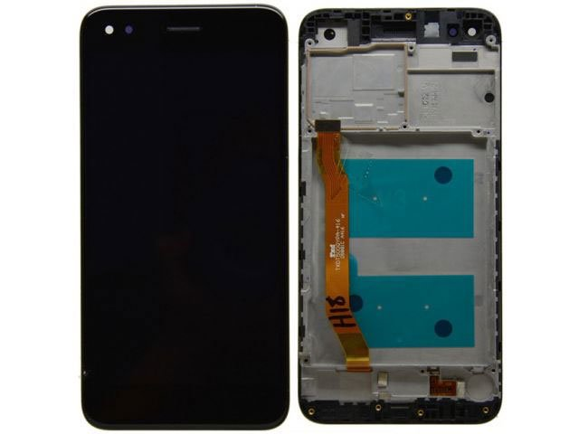 display cu touchscreen si rama huawei p9 lite mini y6 pro 2017 negru original