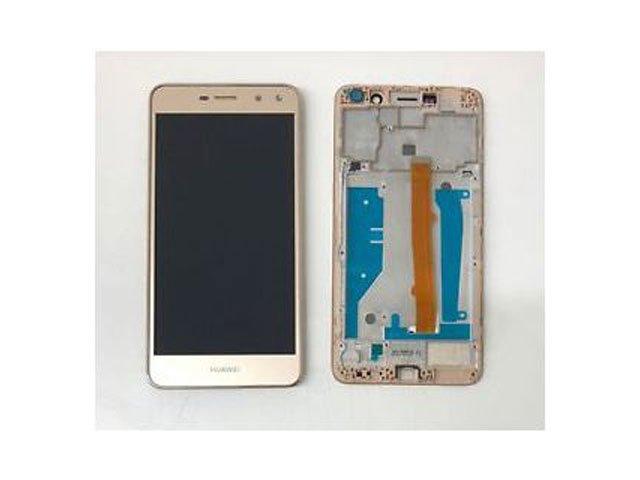 display cu touchscreen si rama huawei y6 2017 mya-l02 mya-l03 mya-l22 mya-l23 auriu original
