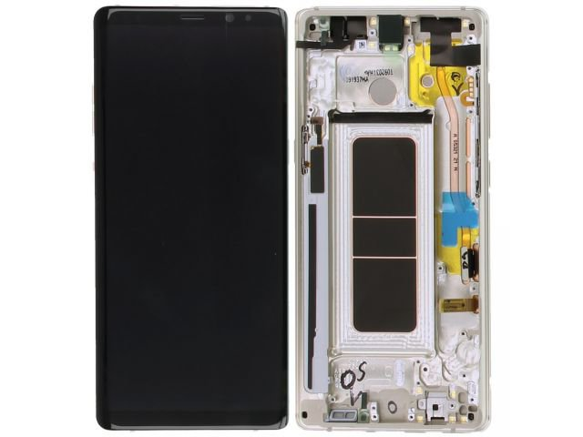 Display cu touchscreen si rama Samsung SM-N950F Galaxy Note 8 auriu original