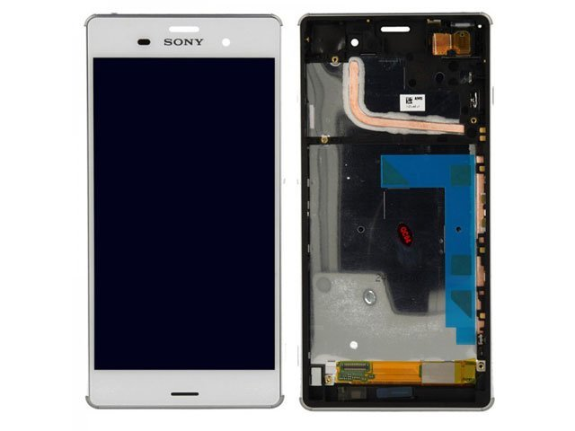Display cu touchscreen si rama Sony D6603, D6643, D6653, D6616, Xperia Z3 alb ORIGINAL