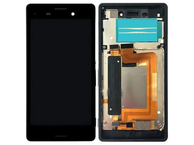 Display cu touchscreen si rama Sony E2303, E2306, E2312, E233, E2353, E2363 Xperia M4 Aqua original
