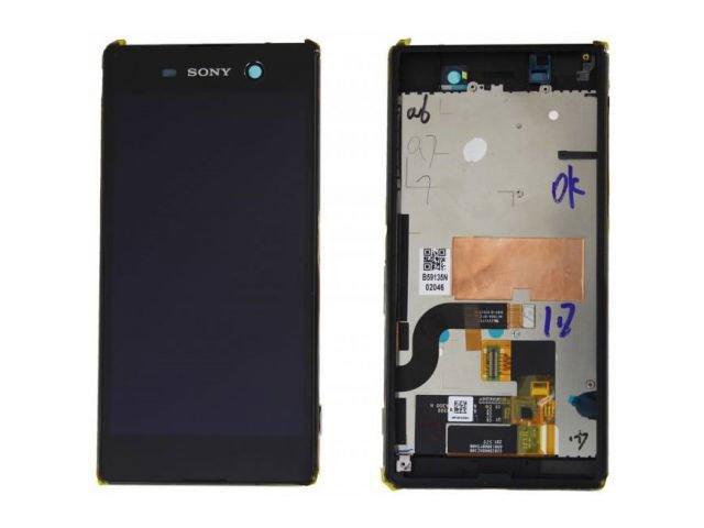 Display cu touchscreen si rama Sony Xperia M5, E5603, E5606, E5653, E5633, E5643, E5663, Xperia M5 Dual original