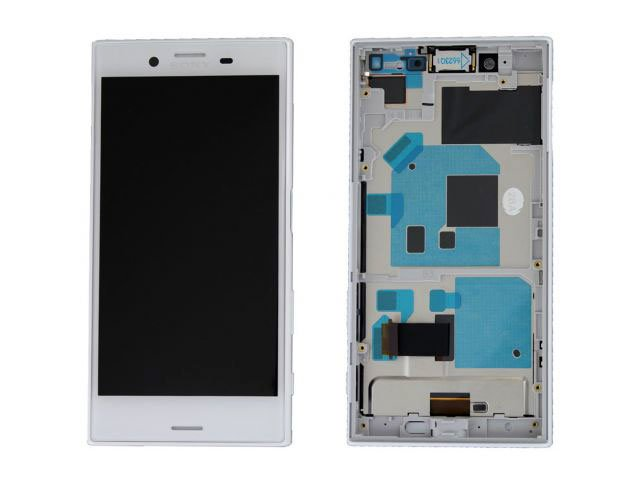 Display cu touchscreen si rama Sony Xperia X Compact, F5321 alb original