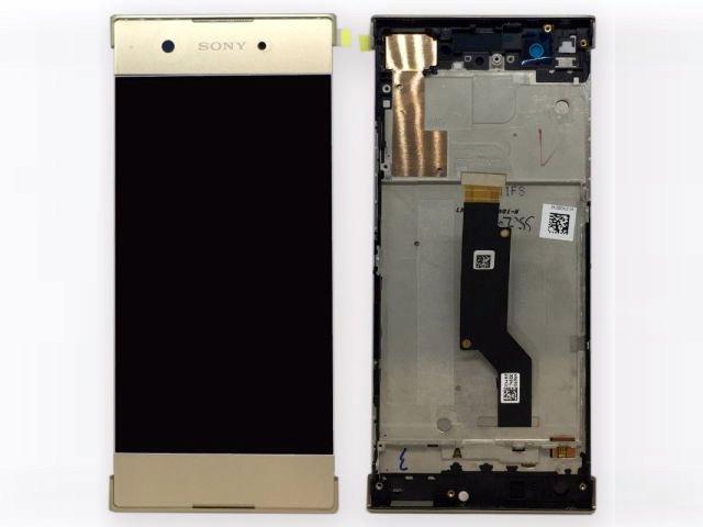 display cu touchscreen si rama sony xperia xa1 g3121 g3123 g3125 xperia xa1 dual g3112 g3116 auriu original