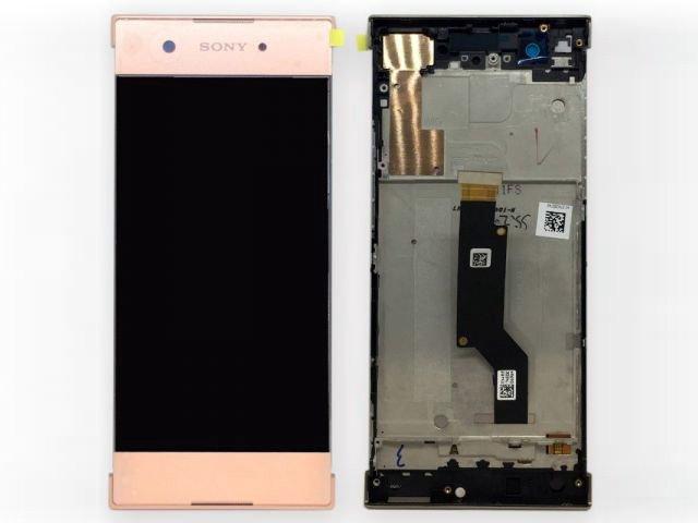 Display cu touchscreen si rama Sony Xperia XA1, G3121, G3123, G3125, Xperia XA1 Dual, G3112, G3116 roz ORIGINAL
