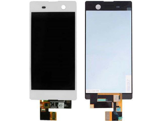 Display cu touchscreen Sony Xperia M5, E5603, E5606, E5653, E5633, E5643, E5663, Xperia M5 Dual alb original