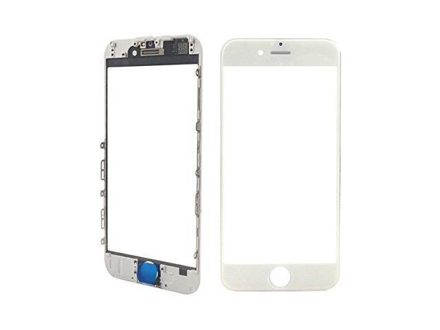 Geam cu rama si OCA Apple iPhone 7 Plus alb ORIGINAL