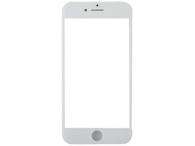 Geam cu rama si OCA Apple iPhone 8 Plus alb ORIGINAL